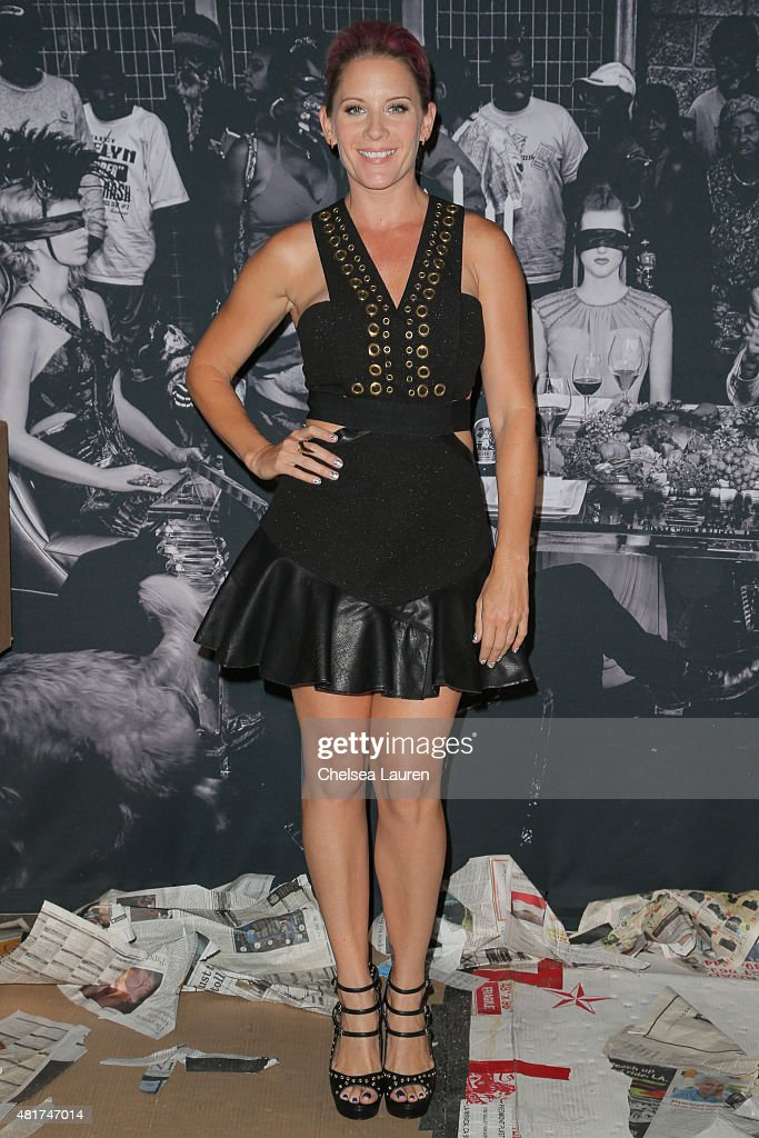 Frank LA producer Holly Kissinger arrives at the Frank LA Issue release celebration 'No. 001 - No Place Like Home' benefitting LAMP community on July 23, 2015 in Los Angeles, California.
