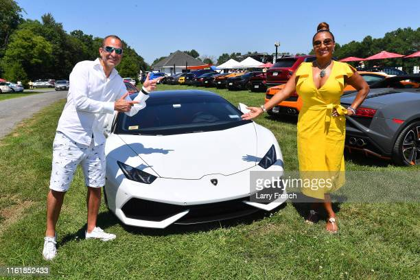 Frank Rameshni and Susan Smallwood producer of Grandiosity Events CigarsGuitars Charity PoloJazz charity event Powered by Logical Technology and...