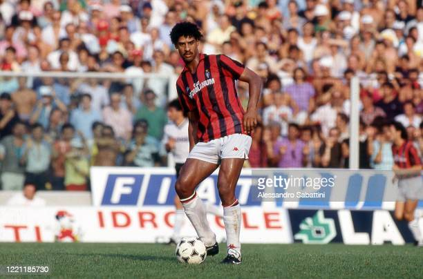 Frank Rijkaard of AC Milan in action during the Serie A, Italy.