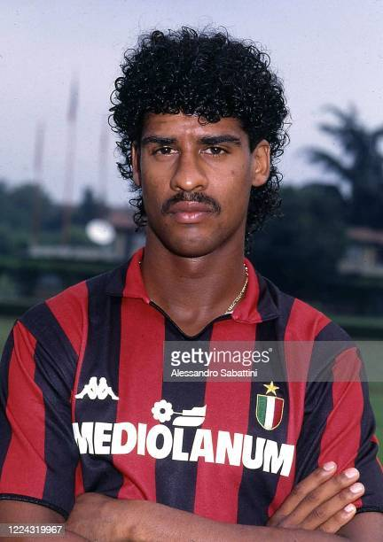 Frank Rijkaard of AC Milan poses for photo during the Serie A, Italy.