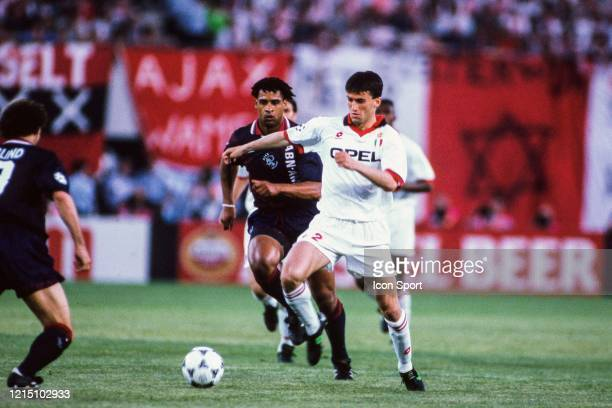 Frank RIJKAARD of Ajax and Christian PANUCCI of Milan AC during the Champions League Final match between Ajax Amsterdam and Milan AC at...