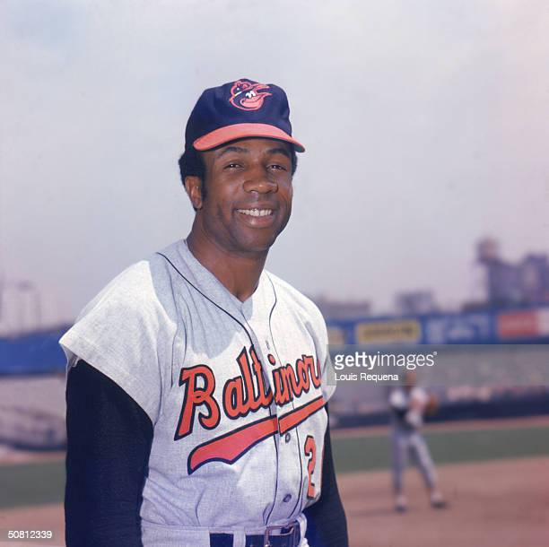 Frank Robinson of the Baltimore Orioles poses for a portrait. Robinson played for the Orioles from 1966-1971.