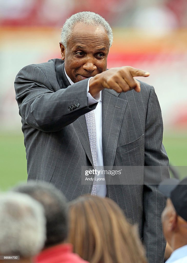 Frank Robinson waves to the crowd before the Gillette Civil Rights Game between the Cincinnati Reds and the St. Louis Cardinals at Great American Ball Park on May 15, 2010 in Cincinnati, Ohio.