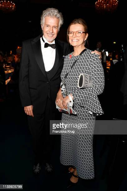 Frank Schaetzing and his wife Sabina Valkieser during the Goldene Kamera after show party at Tempelhof Airport on March 30, 2019 in Berlin, Germany.