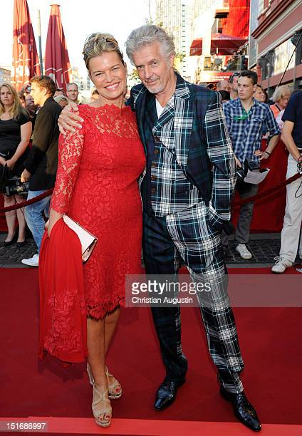 "Frank Schaetzing and his wife Sabina Valkieser-Schaetzing attend ""Tag der Legenden"" at Schmidts Tivoli on September 9, 2012 in Hamburg, Germany."