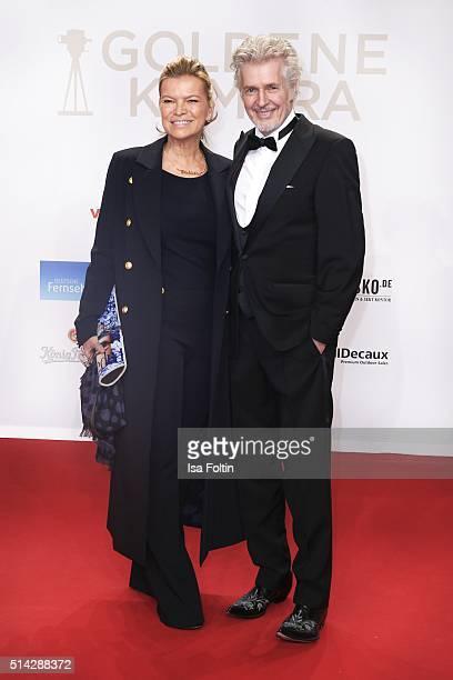 Frank Schaetzing and his wife Sabina Valkieser-Schaetzing attend the Goldene Kamera 2016 on February 6, 2016 in Hamburg, Germany.