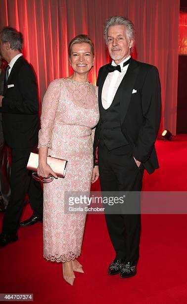 Frank Schaetzing and his wife Sabina Valkieser-Schaetzing during the Goldene Kamera 2015 reception on February 27, 2015 in Hamburg, Germany.