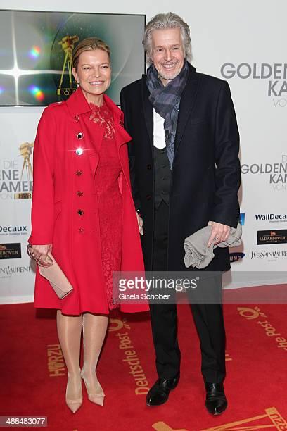 Frank Schaetzing and wife Sabina Valkieser-Schaetzing attend the Goldene Kamera 2014 at Tempelhof Airport Hangar 7 on February 1, 2014 in Berlin,...