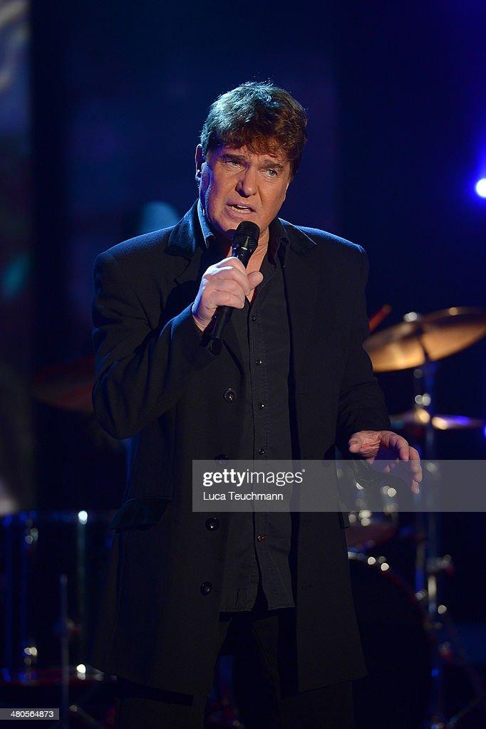 Frank Schoebel performs 'Stefanie Hertel - Die grosse Show der Stars' Show Taping at Jahrhunderthalle on March 25, 2014 in Leuna, Germany.