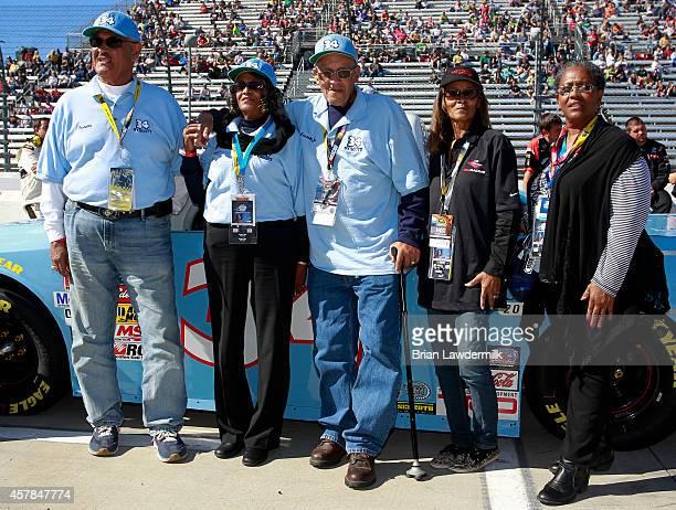 Frank Scott, Janis Davis, Wendell Scott, Sybil Scott, and Cheryl Ashley pose next to the 2015 NASCAR Hall of Fame Inductee Wendell Scott Toyota of...