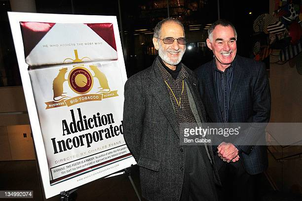 Frank Serpico and research scientist Victor DeNoble attend the Addiction Incorporated screening at the Celeste Bartos Theater at the Museum of Modern...