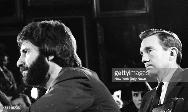 Frank Serpico with Ramsey Clark before Knapp Commission hearing