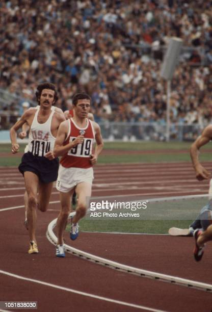 Frank Shorter Pavel Andreev competing in the Men's 10000 metres event at the 1972 Summer Olympics / the Games of the XX Olympiad Olympiastadion
