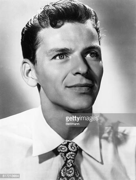 "Frank Sinatra , American singer and actor. Won an Oscar for the 1953 film, ""From Here To Eternity"". Undated publicity still photo, headshot."