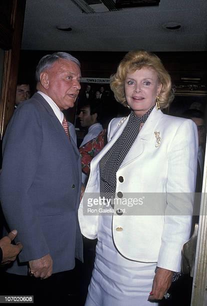Frank Sinatra and Barbara Sinatra during Frank and Barbara Sinatra Sighting at Chasen's in Beverly Hills July 19 1989 at Chasen's in Beverly Hills...