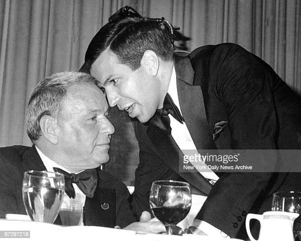 Frank Sinatra and Frank Sinatra Jr at Friars Club