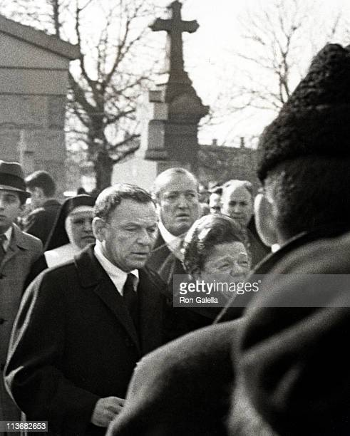 Frank Sinatra and Mother during Funeral for Frank Sinatra's Father January 26 1969 at Hoboken Cemetary in Hoboken New Jersey United States