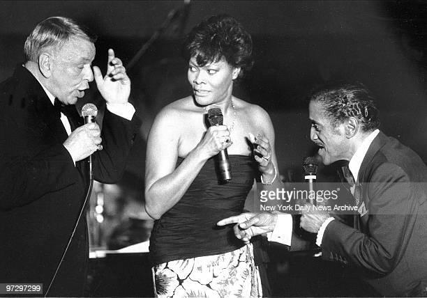 Frank Sinatra and Sammy Davis Jr join Dionne Warwick aboard Intrepid
