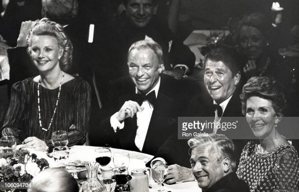 Frank Sinatra and Wife Barbara Marx Sinatra and Ronald Reagan and Wife Nancy Reagan