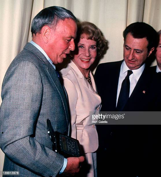 Frank Sinatra Arlene Francis and guest at the 6th Annual National Broadcasting Hall of Fame Awards New York Hilton Hotel New York City