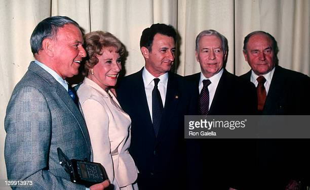 Frank Sinatra Arlene Francis and guests at the 6th Annual National Broadcasting Hall of Fame Awards New York Hilton Hotel New York City