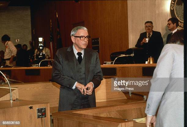 Frank Sinatra attends court hearings circa 1981 in Las Vegas Nevada