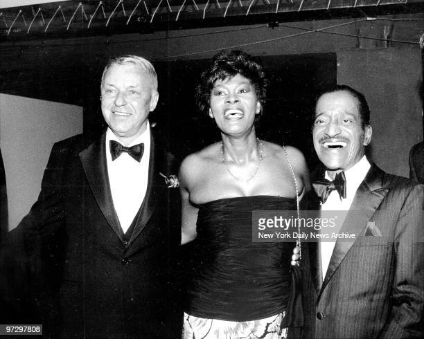 Frank Sinatra Dionne Warwick and Sammy Davis Jr aboard Intrepid