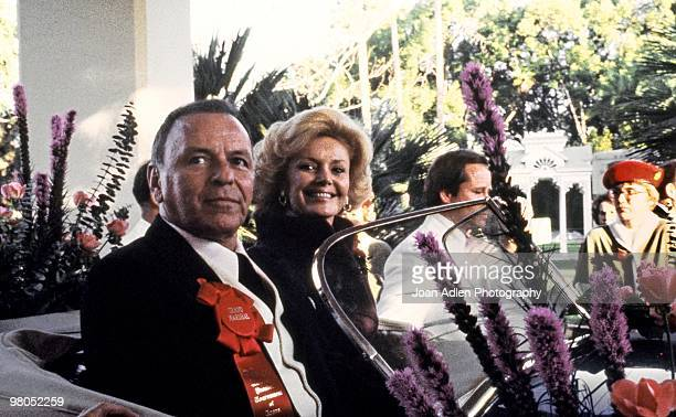 Frank Sinatra is the Grand Marshal at the Tournament of the Roses Parade on Jan 1 1980 in Pasadena California