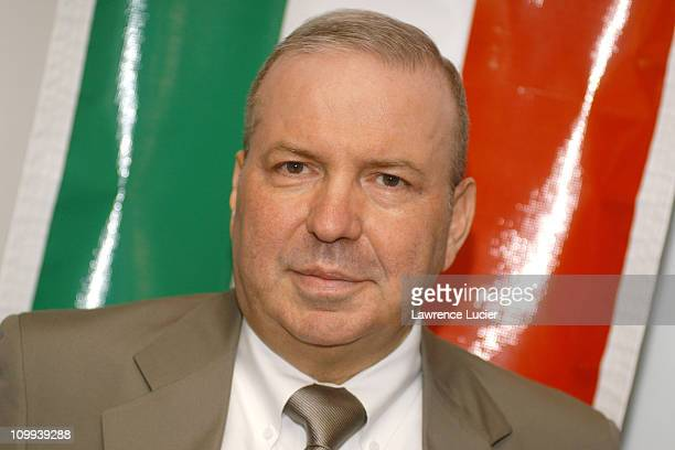 Frank Sinatra Jr during Frank Sinatra Jr Announces Sorrento Cheese Summer Concert in Little Italy Festival at Umbertos Clam House in New York City...