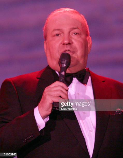 Frank Sinatra Jr during Frank Sinatra Jr Live in Concert at the Hilton in Atlantic City at Hilton Showroom in Atlantic City New Jersey United States