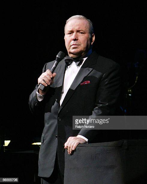 Frank Sinatra Jr performs at Hard Rock Live in the Seminole Hard Rock Hotel and Casino January 9 2006 in Hollywood Florida