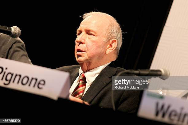 Frank Sinatra Jr speaks onstage at 'Sinatra An American Icon' during the 2015 SXSW Music Film Interactive Festival at Austin Convention Center on...