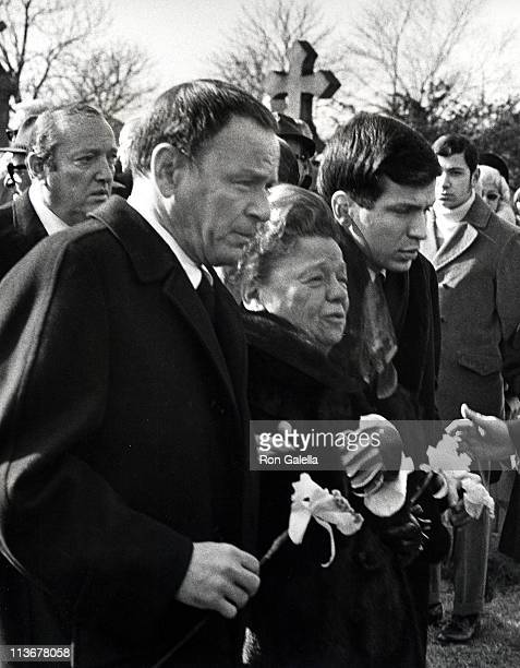 Frank Sinatra Mother and Frank Sinatra Jr during Funeral for Frank Sinatra's Father January 26 1969 at Hoboken Cemetary in Hoboken New Jersey United...