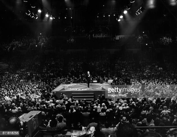 Frank Sinatra performing at Madison Square Garden during the televised concert 'The Main Event Live' on October 13 1974