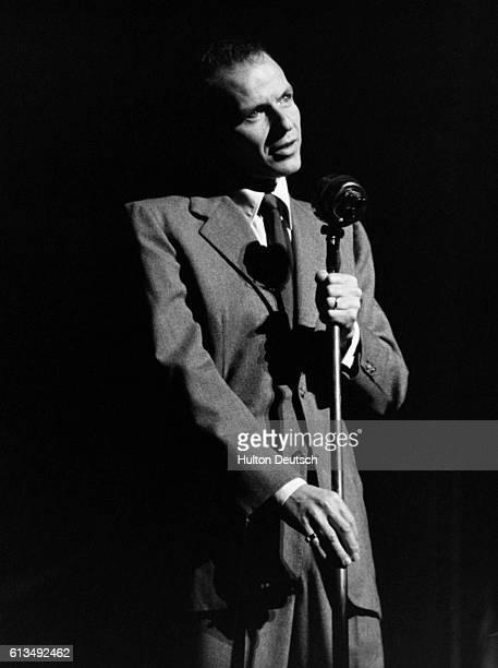 Frank Sinatra Rehearsing During A Visit To Britain.