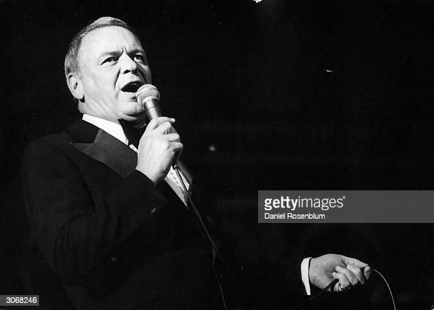 Frank Sinatra singing at a concert in Israel proceeds of which go to charities and the 'Frank Sinatra Brotherhood and Friendship Center' in Nazareth