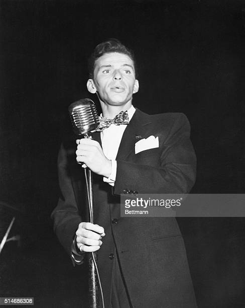 Frank Sinatra sings and speaks at a rally for President Franklin Delano Roosevelt sponsored by an independent voters' commission