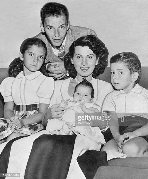 Frank Sinatra with his first wife and children