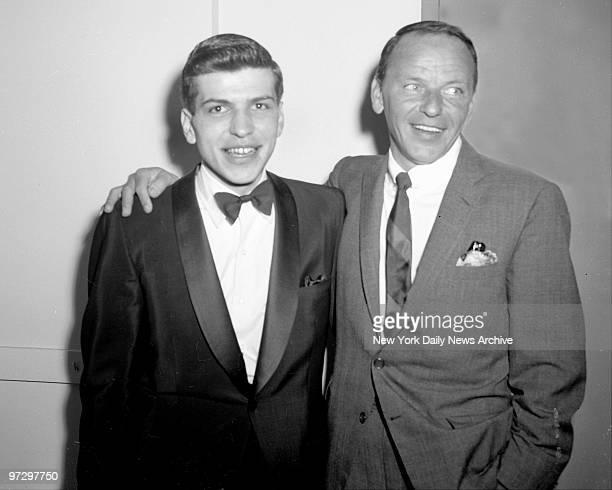 Frank Sinatra with his son Frank Sinatra Jr