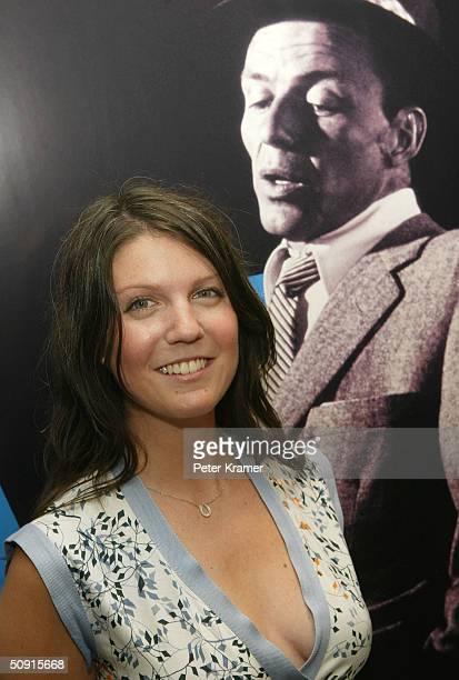 Frank Sinatra's granddaughter AJ Azzarto attends the opening of her Grandfather's unique memorabilia exhibit at Torneau June 1 2004 in New York City