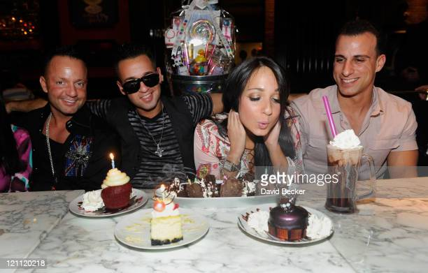 Frank Sorrentino Jr television personality Mike 'The Situation' Sorrentino Melissa Sorrentino and Michael Sussman attend the Sugar Factory American...