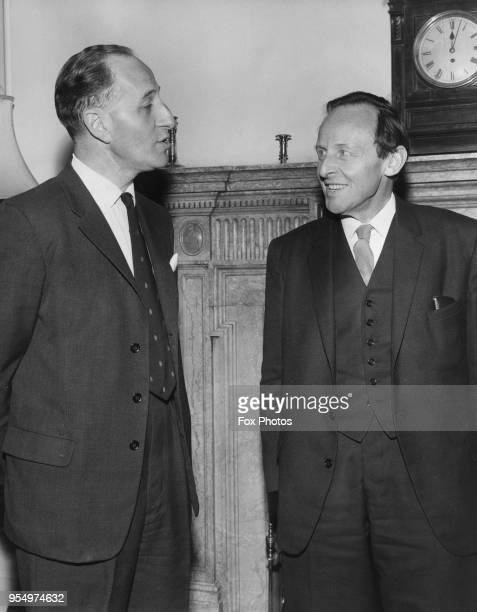 Frank Soskice , the new Home Secretary, has his first official meeting with Captain Terence O'Neill , the Prime Minister of Northern Ireland, at the...
