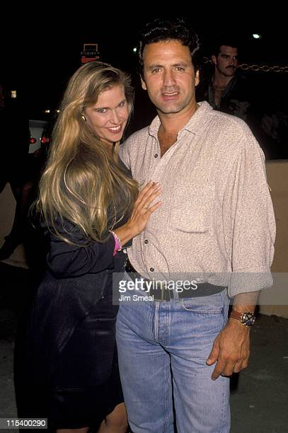 Frank Stallone and guest during Frank Stallone Sighting at the Roxbury Club in Los Angeles July 7 1990 at Roxbury Club in Los Angeles California...