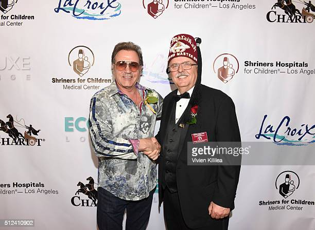 Frank Stallone and Shriners Hospitals for Children Los Angeles Board Chairman David R Doan attend ECOLUXE Presents Salute To OSCAR Noms Party For...