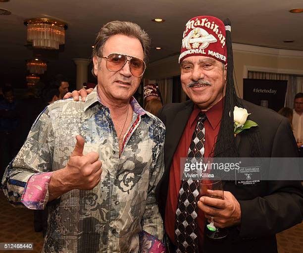 Frank Stallone and Shriners Hospitals for Children Los Angeles Board Chairman David R Doan attend ECOLUXE Presents 'Salute To OSCAR Noms' Party For...