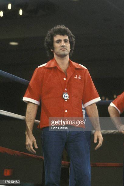 Frank Stallone during Lee Canalito Vs Curtis Whitner Boxing Match at Tropicana Hotel Casino in Atlantic City New Jersey United States