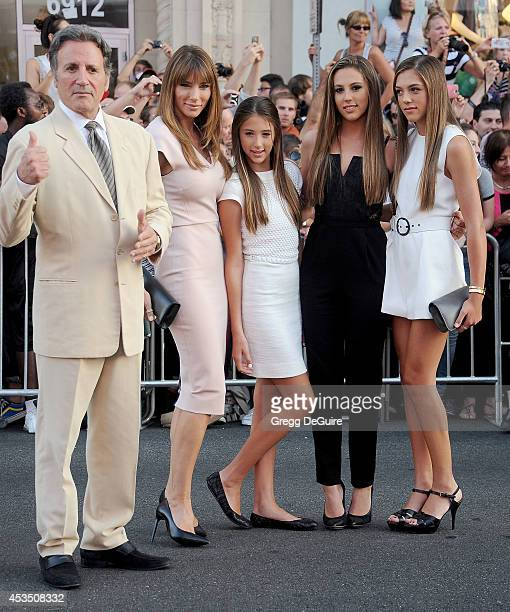 Frank Stallone Jennifer Flavin Sistine Rose Stallone Sophia Rose Stallone and Scarlet Rose Stallone arrive at the Los Angeles premiere of 'The...