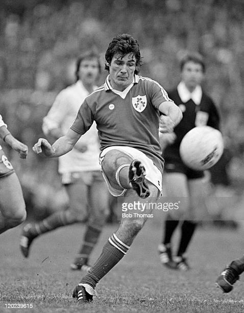 Frank Stapleton in action for Republic of Ireland during their World Cup qualifying match against France at Lansdowne Road in Dublin 14th October...