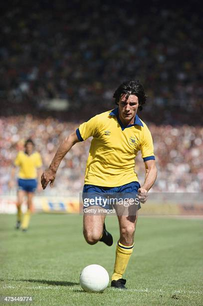 Frank Stapleton of Arsenal in action during the FA Cup Final between Arsenal and Manchester United held on May 12 1979 at Wembley Stadium in London...