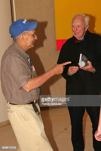 Frank Stella and Jasper Johns attend The PHILIP JOHNSON GLASS HOUSE Inaugural Gala Picnic at New Canaan on June 23 2007 in New Canaan Connecticut